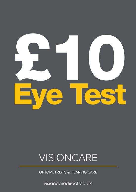 10 pound eye test